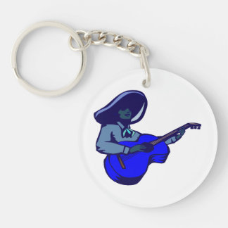 mexican guitar player blue blue.png keychain