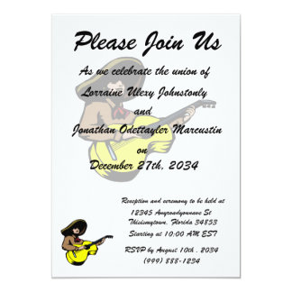 mexican guitar player brown yellow.png personalized invitations