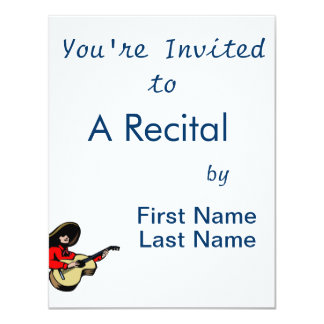 mexican guitar player red.png personalized invitation
