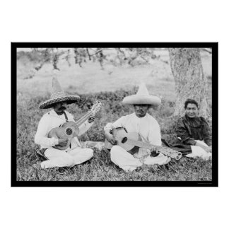 Mexican Guitar Players 1904 Poster