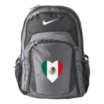 Mexican Heart Flag Nike Backpack