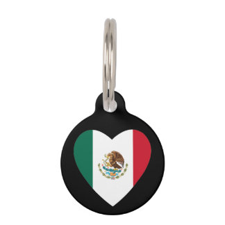 Mexican heart pet ID tag