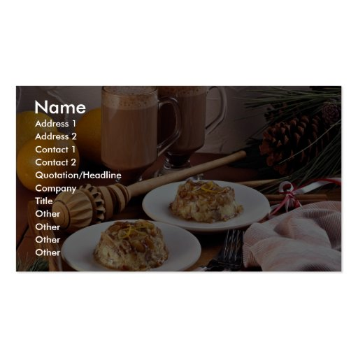 Mexican holiday desserts business card template