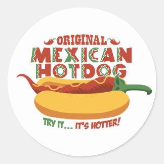 Mexican Hotdog Classic Round Sticker