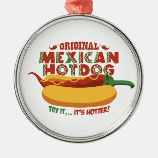 Mexican Hotdog Metal Ornament