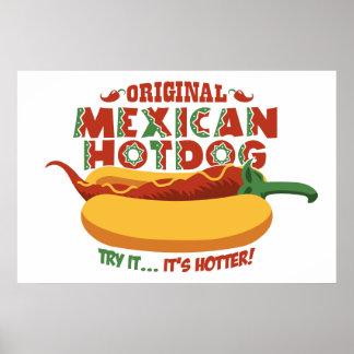 Mexican Hotdog Print