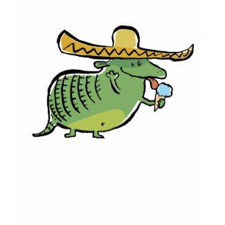 mexican ice cream loving armadillo zazzle_shirt