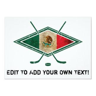 Mexican Ice Hockey Flag 5x7 Paper Invitation Card