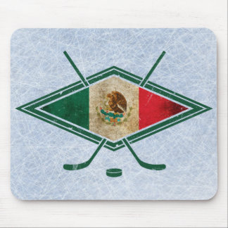 Mexican Ice Hockey Flag Mouse Pad