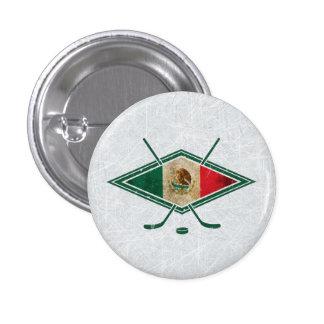 Mexican Ice Hockey Flag Pin Badge