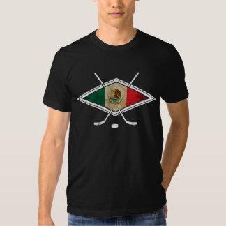 Mexican Ice Hockey Flag Tee Shirt