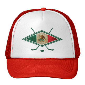 Mexican Ice Hockey Flag Trucker Hat