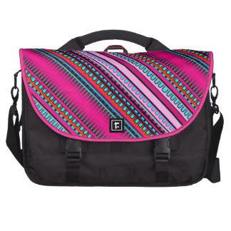 Mexican Inca Aztec Pink Geometric Pattern Laptop Computer Bag