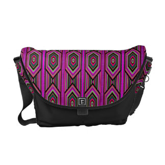 Mexican Inca Aztec Pink Geometric Pattern Courier Bags