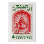 Mexican Independence 1810 to 1960 Print