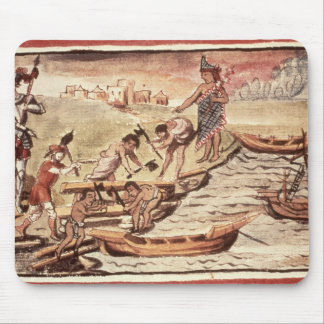Mexican Indian boatbuilders Mouse Pad