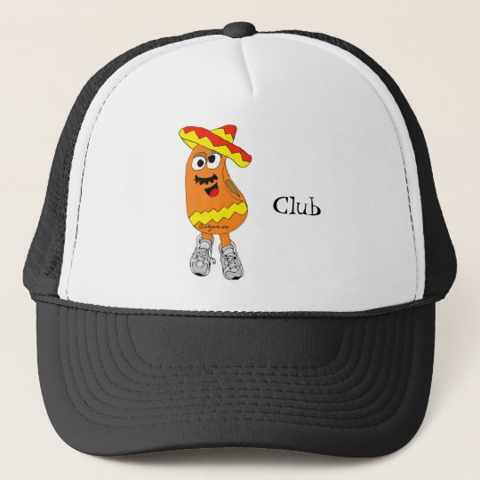 a0721d5406fa8 Trucker Hat Bean Hat  Mexican Jumping Bean Cartoon Hat