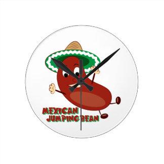Mexican Jumping Bean Round Wall Clocks