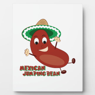 Mexican Jumping Bean Display Plaque