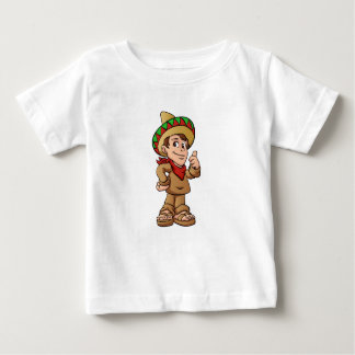 mexican kid cartoon. baby T-Shirt