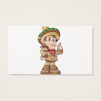 mexican kid cartoon. business card