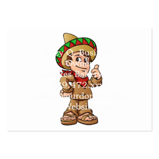 mexican kid cartoon. large business card