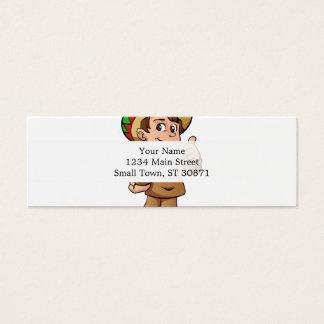 mexican kid cartoon. mini business card