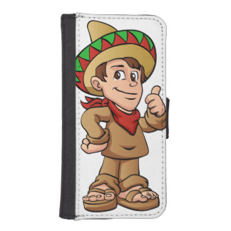 mexican kid cartoon. wallet phone case for iPhone SE/5/5s