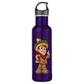 mexican kid cartoon. water bottle