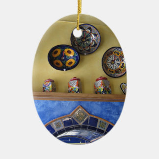 Mexican Kitchen plates and pottery Ceramic Ornament