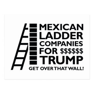Mexican Ladder Companies Postcard