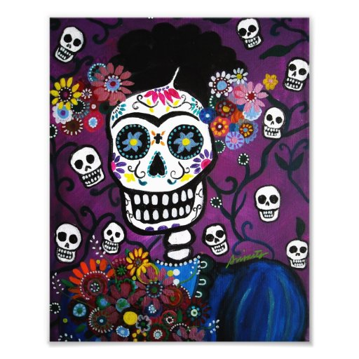 Mexican Lady Day of the Dead Painting Photo Art