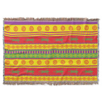 Mexican Lizard Pattern Throw