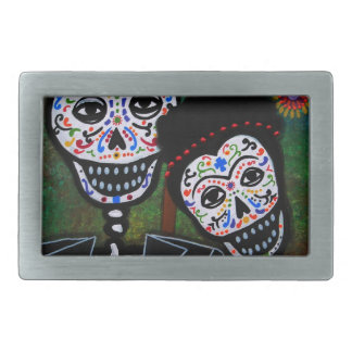 Mexican lovers Painting Belt Buckle