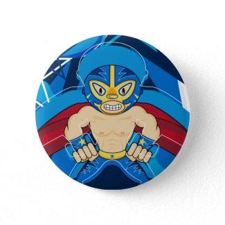 Mexican Luchador Wrestler Button button
