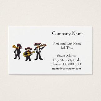 Mexican Mariachi Band Cartoon Illustration Business Card