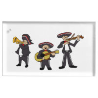 Mexican Mariachi Band Cartoon Ilustration Table Number Holder