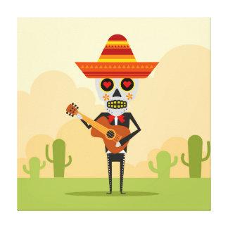 Mexican Mariachi Illustration Canvas Print