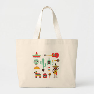 mexican mariachi large tote bag