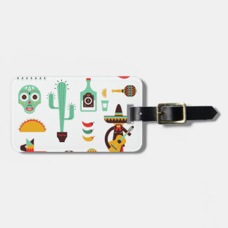 mexican mariachi luggage tag
