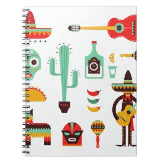 mexican mariachi notebook