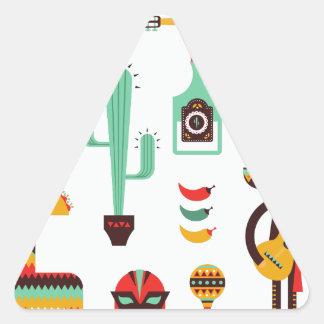 mexican mariachi triangle sticker