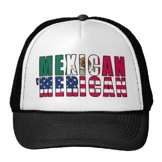 Mexican 'Merican Flags - Mexican American Trucker Hat