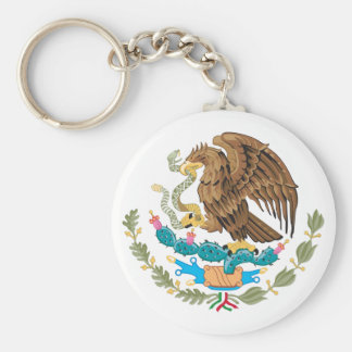 Mexican Mexico Flag Basic Round Button Keychain