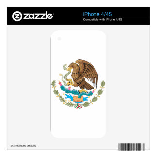 Mexican Mexico Flag iPhone 4 Decals