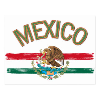 Mexican Mexico Flag Postcard