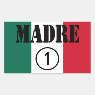 Mexican Moms : Madre Numero Uno Rectangular Sticker