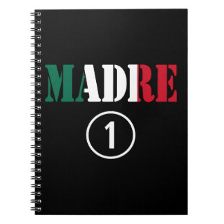Mexican Moms : Madre Numero Uno Spiral Notebooks