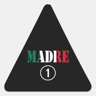 Mexican Moms : Madre Numero Uno Triangle Sticker