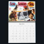"Mexican Movie Poster Wall Calendar<br><div class=""desc"">Vintage movie posters from old theaters in Mexico.  Great gift for the classic movie fan.</div>"